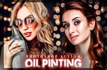 Oil Painting Photoshop Action KJS97UK 2