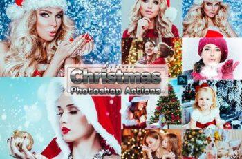 Xmas Christmas Photosahop Actions XC44GNV 1
