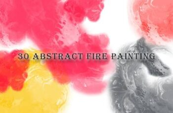 30 Abstract Fire Painting Brushes YYREBMY 5
