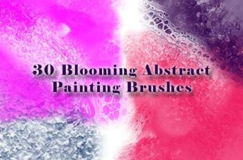 30 Blooming Abstract Painting Brushes NQFUPMG 3