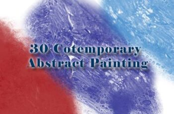 30 Cotemporary Abstract Painting Brushes J332VTM 15