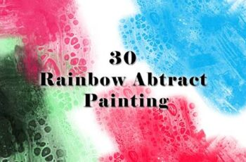 30 Rainbow Abtract Painting Brushes 67QSHWT 14