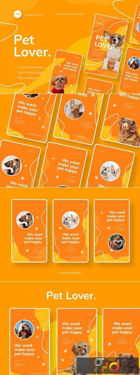 Pet Lover - Pet Animal Instagram Stories Template YDFM4C4 1
