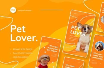 Pet Lover - Pet Animal Instagram Stories Template YDFM4C4 11