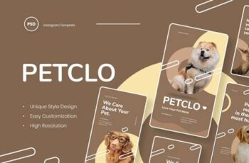 Petclo - Pet Animal Instagram Stories Template BSPAQ7Y 10