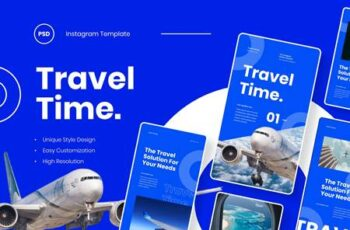 Travel Time - Instagram Stories Template 8ADKEWJ 9