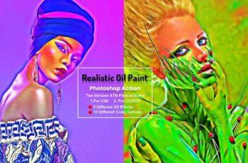 Realistic Oil Paint Photoshop Action 5755653 5