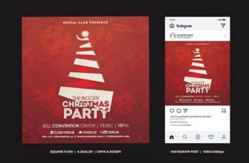 Christmas Party Square Flyer & Insta Post AL5D2NR 5