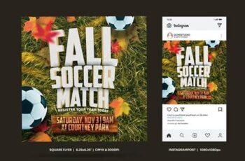 Fall Soccer Match Square Flyer & Insta Post 8QJBM5X 13