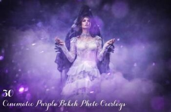 30 Cinematic Purple Bokeh Overlays 3498789 4