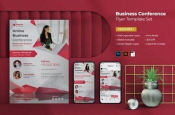 Online Business Conference Flyer Set A6BQ23N 5