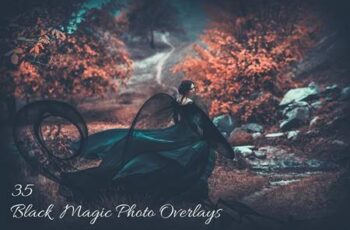 35 Black Magic Photo Overlays 3499406 6