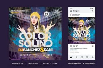 QuareFlyer & Instagrampost Color Sound Experience WTADWTL 6