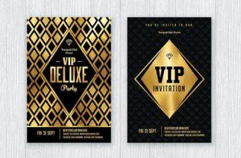 Gold Flyer Set - Gold Invitation 3RJYBLL 7