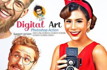 Digital Art Photoshop Action 5731809 2
