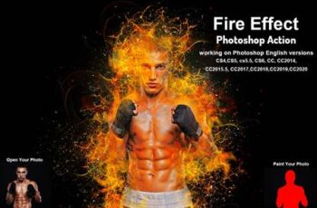 Fire Effect Photoshop Action 5735159 7
