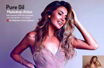 Pure Oil Photoshop Action 5593188 3