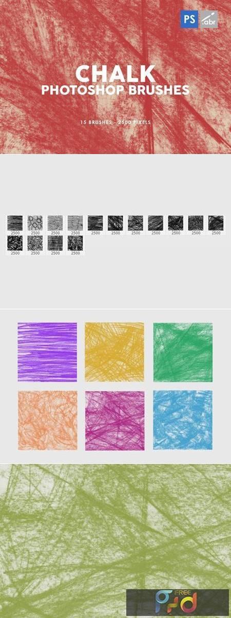 Chalk Texture Photoshop Stamp Brushes 2 GUJEX2G 1