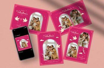 Valentine Greeting Card- Photo booth Q6W8ETE 4
