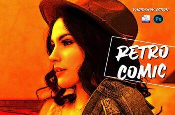 Retro comic - PSD action 5722196 3