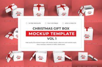 Christmas Gift Box Mockup Bundle Vol 1 6703168 6