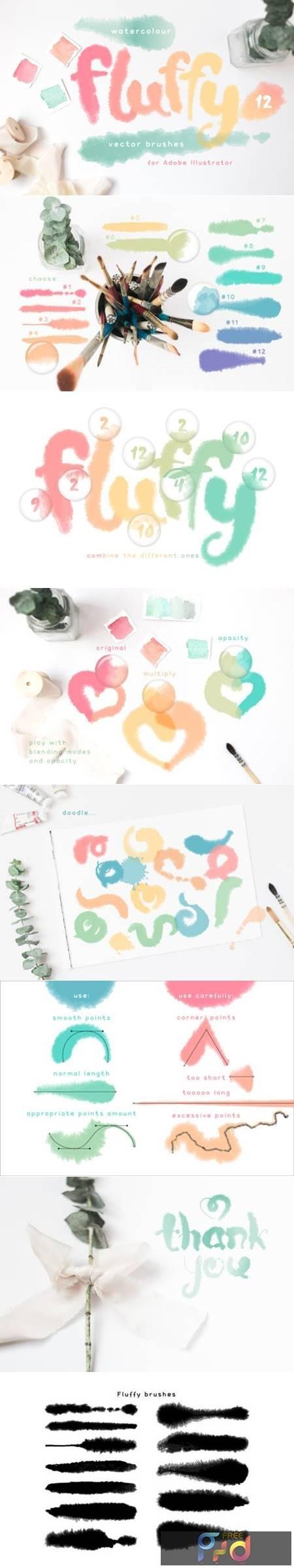 Fluffy Brushes for Illustrator 6682657 1