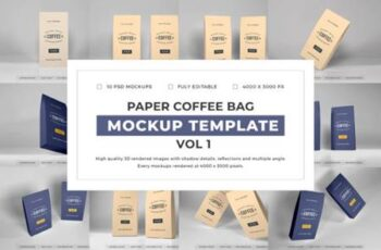 Paper Coffee Bag Mockup Bundle Vol 1 6703736 7