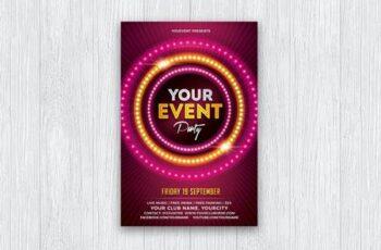 Event - Night - Neon Party Flyer F3KF9JM 8