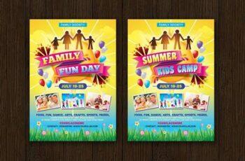 Family Fun Day- Summer Kids Camp Flyer KF4JPLJ 2