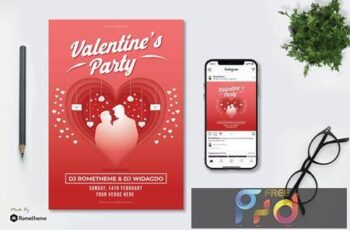 Valentines Party - Flyer KF V3D3XWH 7