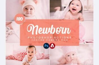 Newborn Photoshop Actions and ACR Preset 7504507 6