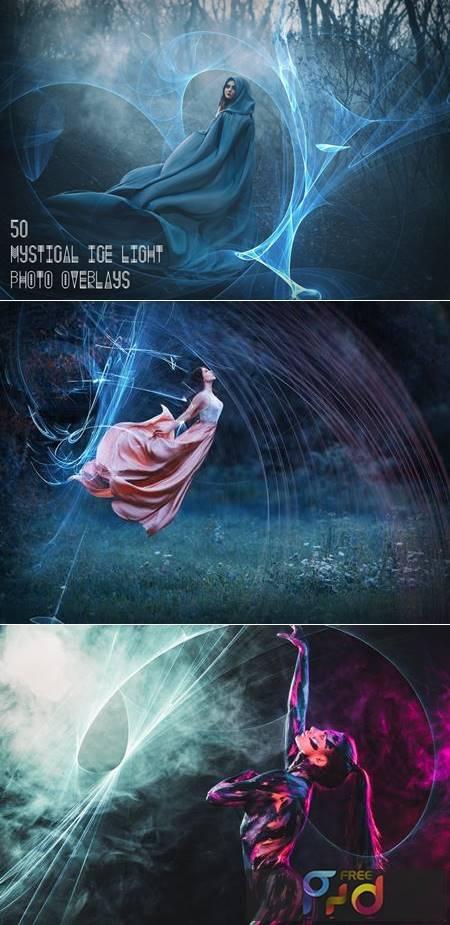 50 Mystical Ice Light Photo Overlays MPFQFPQ 1