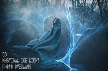 50 Mystical Ice Light Photo Overlays MPFQFPQ 4