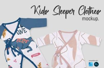 Kids Sleeper Clothes - Mockup 5751507 7