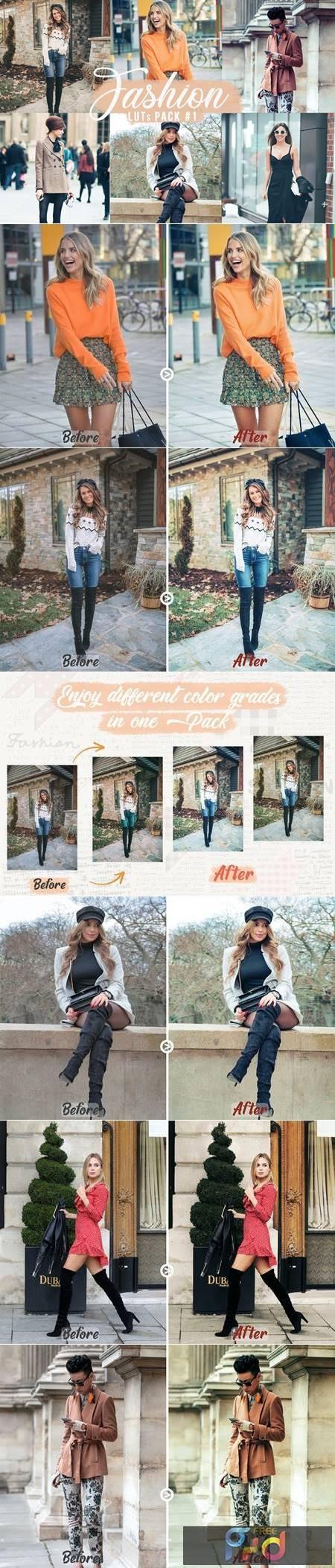 Fashion LUTs Pack #1 - Video Photo Color Grading V5DZMQB 1