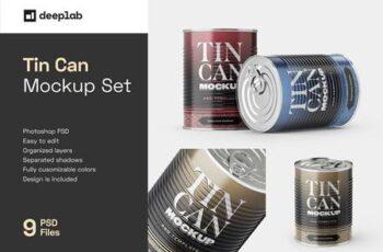 Tin Can Mockup Set - Conserve 5806695 6
