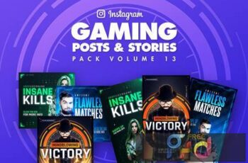 Gaming Instagram Posts and Stories Pack 13 LQ4E437 5