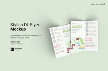 Stylish Bifold DL Flyer Mockup JS7LMUD 7
