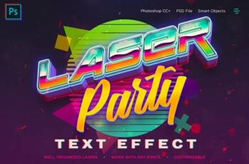 Synthwave Retro Vibrant 3D Text Effects PZJYQ75 2