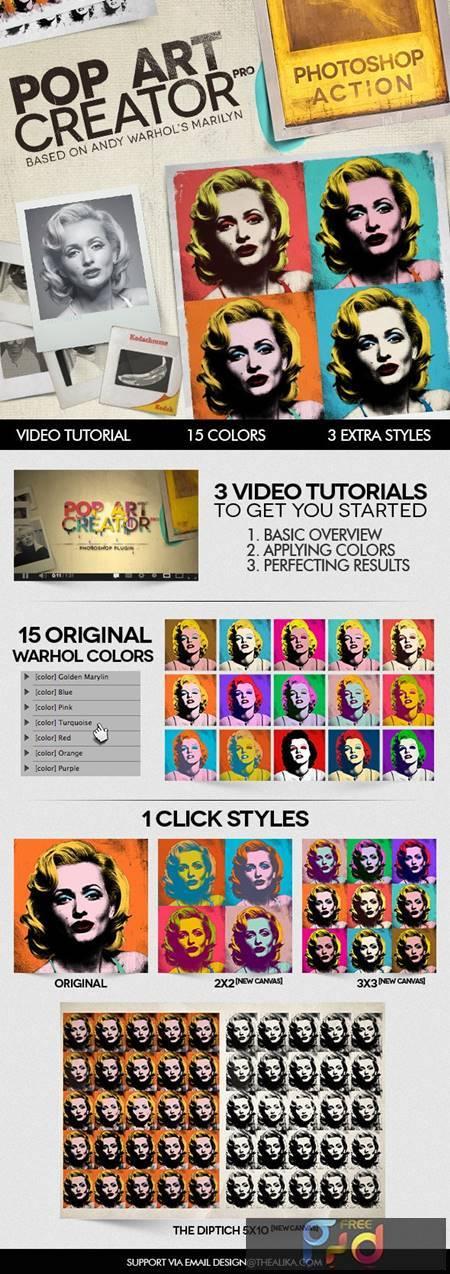 POP ART Creator PRO - Photoshop Action 4183620 1