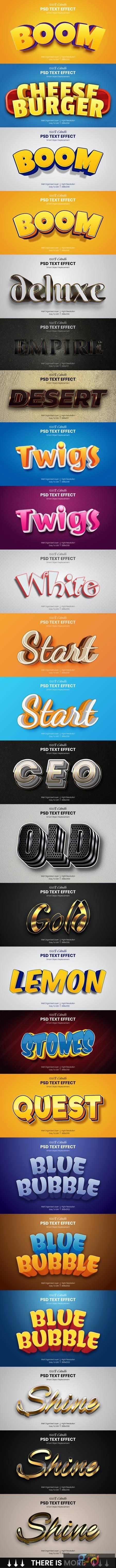 40 Luxury & Cartoon Photoshop Text Effects - Golden & Comic Styles 29800611 1