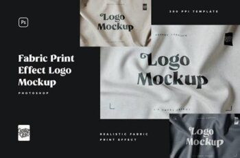 Fabric Print Logo Mockup Set 5831504 6