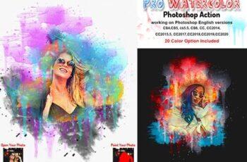 Pro Watercolor Photoshop Action 5785133 8