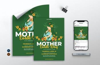Mother Earth Day - Flyer, Poster, Instagram AS 392ZCGV 3