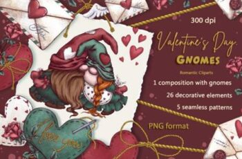 Valentines Day Gnomes Holiday Clipart 8282315 3