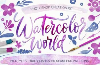 Watercolor World - Photoshop Styles & Brushes 302430 1