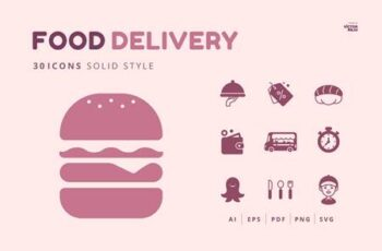 30 Icons Food Delivery 15
