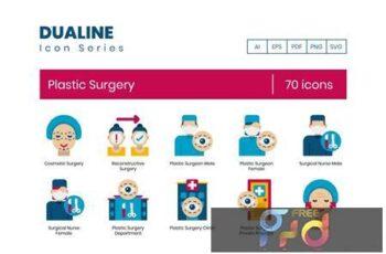 70 Plastic Surgery Icons - Dualine Flat Series EV2QWJ5 11
