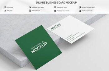 Square Business Card Mock-Up 5832510 2
