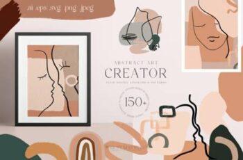 Abstract Art Organic Shape Creator Lines 8622900 6